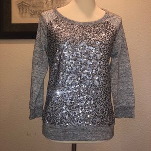 Gap sweatshirt with front sequin embellishments